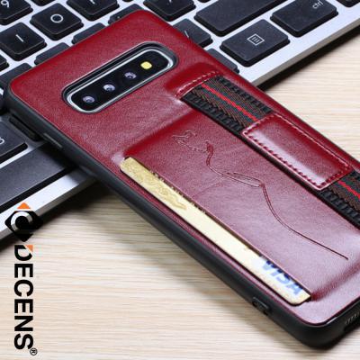 데켄스 갤럭시S10 케이스 핸드스트랩 가죽 포켓 케이스 M628