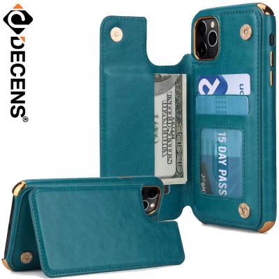 데켄스 아이폰11프로맥스케이스 메탈 레더 포켓 케이스 M689