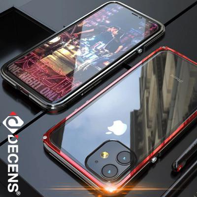 데켄스 아이폰11케이스 하드 범퍼 크리스탈 메탈 케이스 M210