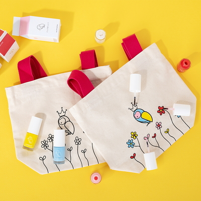 플로릿 어린이화장품 바르는 네일 스티커 5종 + 에코백