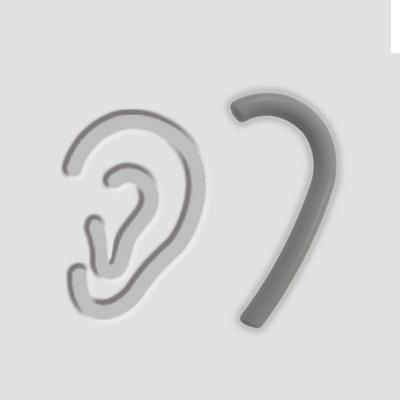 하트 마스크 실리콘 귀 보호대 고리