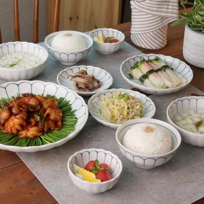 일본식기 데이지플라워 일본식기 홈세트 10P
