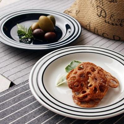 일본식기 세일러 접시 16cm 화이트