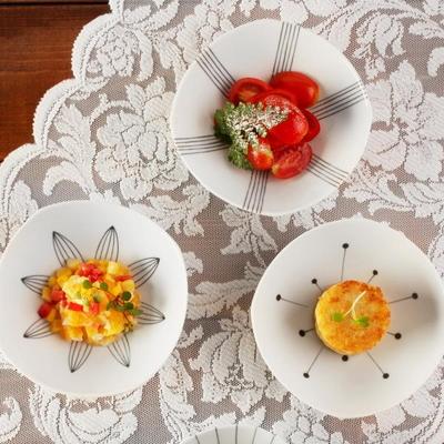 일본식기 에가와리 볼접시 4p 세트