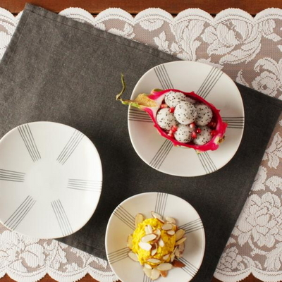 일본식기 에가와리 16cm 접시세트 4p