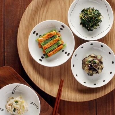 일본식기 웨이브 접시세트 4p