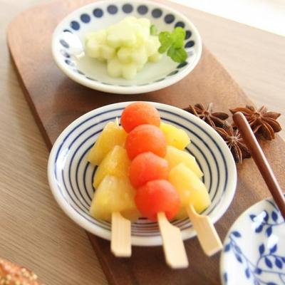 일본식기 모던블루 핑거플레이트 3P 세트