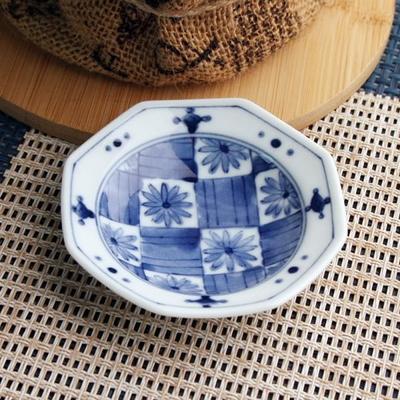 일본식기 작은 팔각 접시모음