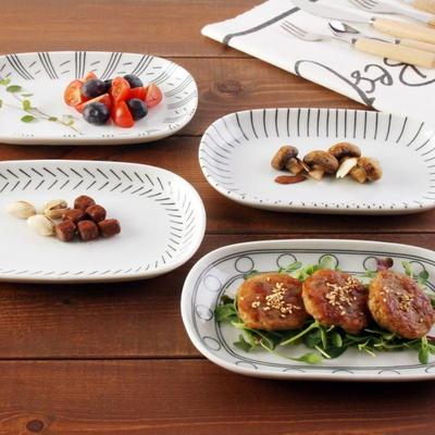 일본식기 W.에가와리 접시