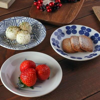 일본식기 플라워리 접시 14cm