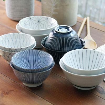일본식기 가정식 공기 대접 아사노하/쿠로센