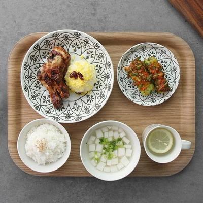 일본식기 로코코 솔리드 반상세트
