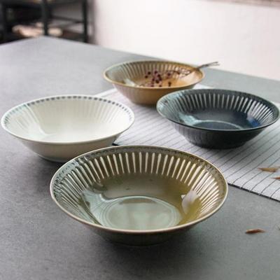 일본식기 엠보라인 볼접시 4종 17cm