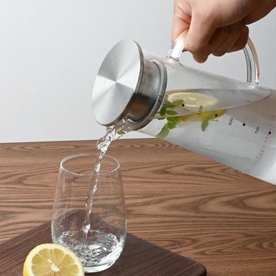 레벤호프 스텐 뚜껑 내열유리 냉장고 물병 물통 1.3L