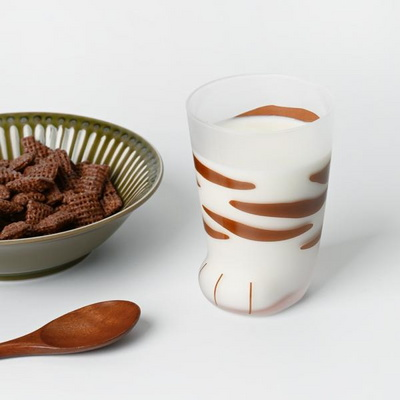 네코 고양이 발컵 유리컵 300ml