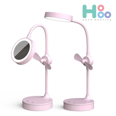 호후 메이크업 LED탁상조명 선풍기 무드등 스탠드 화장거울