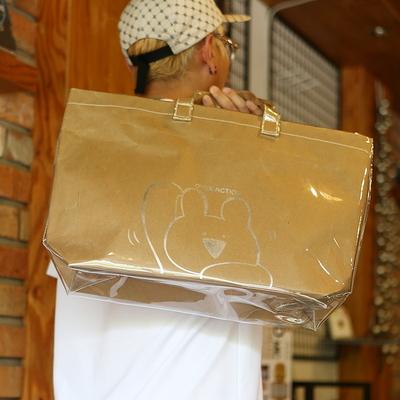PVC백 토트백 재활용 종이가방 숄더백 클러치백 오버액션토끼