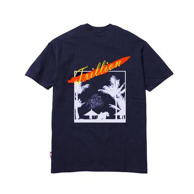 18SS Unisex 아트워크 반팔 티셔츠 NAVY - IN8STS012