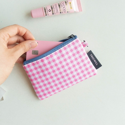 FLAT POUCH S-cherry check
