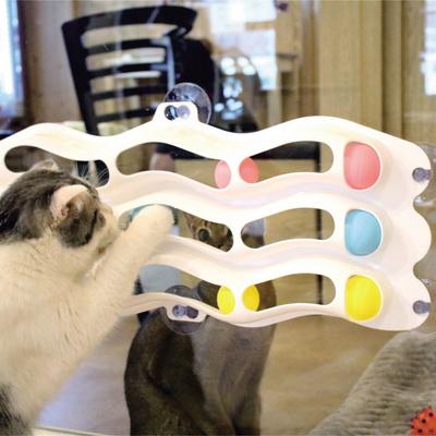리스펫 고양이 3단트랙볼 움직이는 장난감