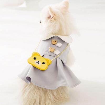 리스펫 강아지옷 댕댕 곰돌이 원피스