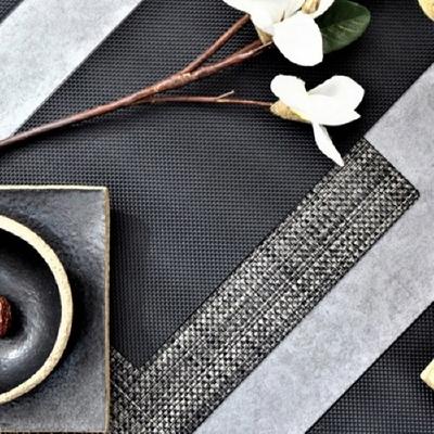 스키니 방수 식탁매트 블랙시리즈