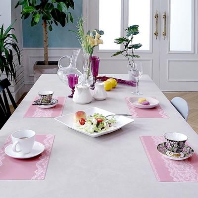 TPU 방수 핑크 레이스 식탁매트 S 엘라다이닝
