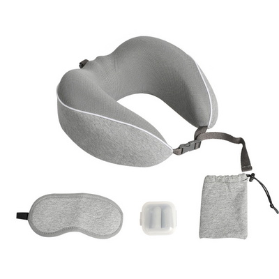 여행용 안대 목쿠션 사무실 목베개 귀마개 수면 세트