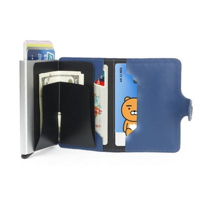 명함보관 자동 남자 가죽 카드지갑 프로텍터(카드자동지갑)