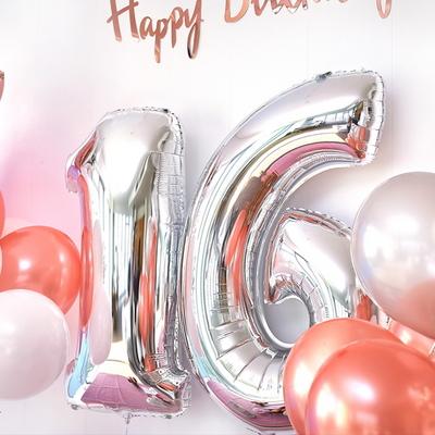 이벤트 생일 파티 기념일 100일 숫자 풍선 1M