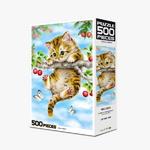 직소퍼즐 500피스 체리 고양이 HP504