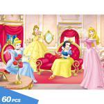 판퍼즐60피스 궁전안의 디즈니 공주들  D60N-10