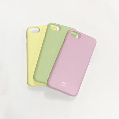 아이폰 파스텔 컬러 색상 무지 매트 하드 케이스