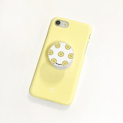 아이폰 옐로우 파스텔 컬러 스마일 스마트톡 케이스 세트