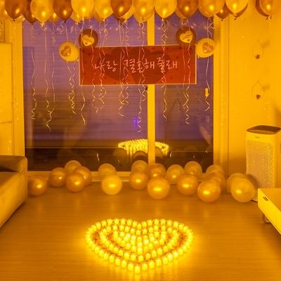 프로포즈 이벤트 용품 LED촛불 세트 C
