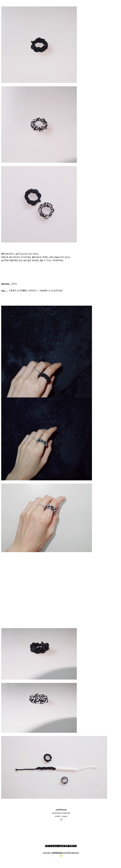 KN7. Black (2type) 실반지 블랙 화이트 - 어와일어웨이, 8,000원, 패션, 패션반지