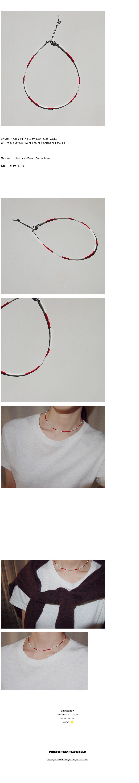red_white_neck 레드화이트 비즈목걸이 - 어와일어웨이, 17,600원, 패션, 패션목걸이