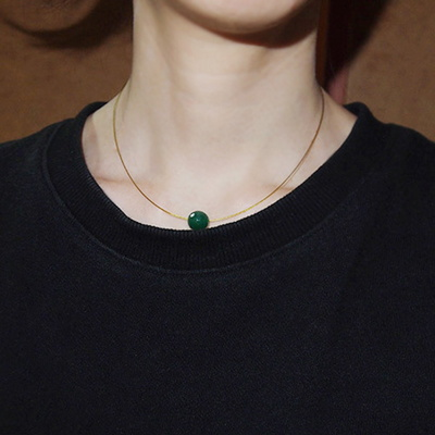 green_onyx_neck 그린오닉스 와이어목걸이