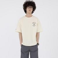 스웩버 3509-브로큰글라시스(크림)_오버핏 티셔츠