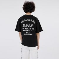 스웩버 3507-홀리데이(블랙)_오버핏 티셔츠