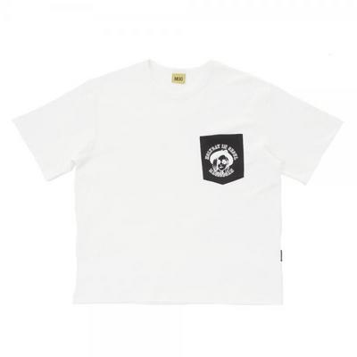 W_루디아 3604-포켓(화이트)_오버핏 티셔츠