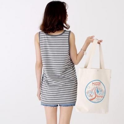 W_슬리버 3901 스트라이프 민소매 티셔츠 멜란지그레이