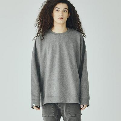 아카릿 3308 유니 맨투맨 오버핏 멜란지그레이 스웨트셔츠