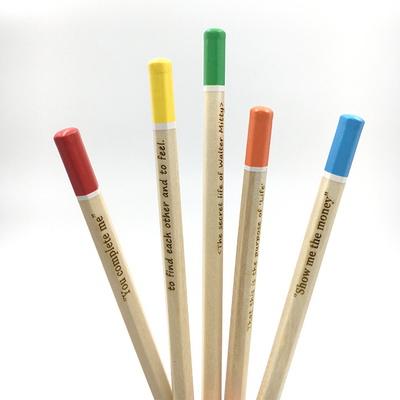 메시지 각인 -Color Tip Woodpencil 5본 세트 - 개별각인OK