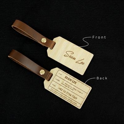 Oak Wood Name tag-오크우드 네임택