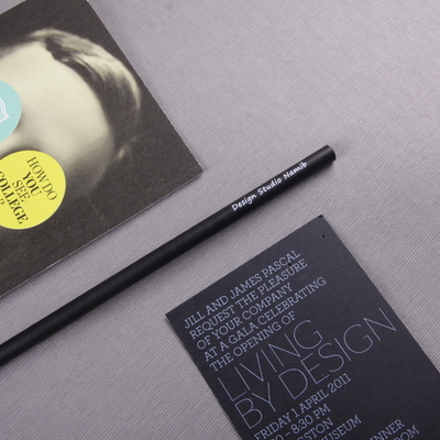 메시지 각인 -Black Woodpencil 5본 세트 - 개별각인OK