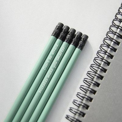 메시지 각인 -Pastel Woodpencil 5본 세트 - 개별각인OK