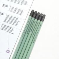 메시지 각인 - Eraser Woodpencil (Avocado) 5본 세트 - 개별각인OK
