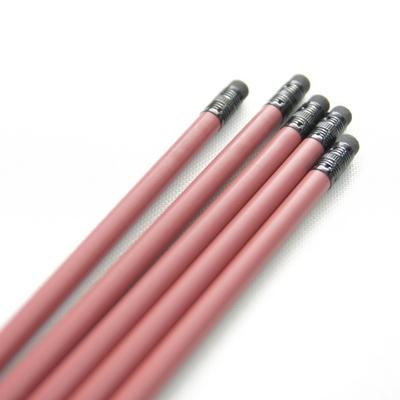 메시지 각인 - Eraser Woodpencil (Rust Red) 5본 세트 - 개별각인OK