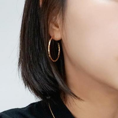 14K 루나 후프 귀걸이